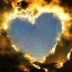 gold cloud love heart